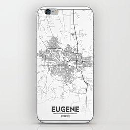 Minimal City Maps - Map Of Eugene, Oregon, United States iPhone Skin