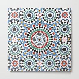 Moroccan Tiles Metal Print