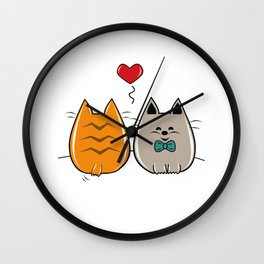 Kitty Chan In Love Wall Clock