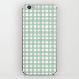 Buffalo Checks in Sage Green and White iPhone Skin