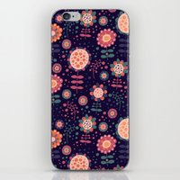 flora iPhone & iPod Skins featuring Flora by Valendji