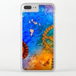 Ocean workings Clear iPhone Case