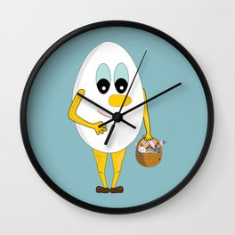 Rabbit hunt Wall Clock