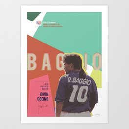 #10 Baggio // World Cup • Football Stars  Art Print