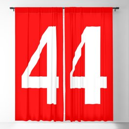 4 (WHITE & RED NUMBERS) Blackout Curtain
