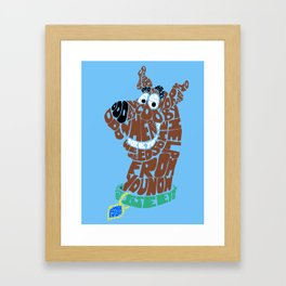 scooby Framed Art Print