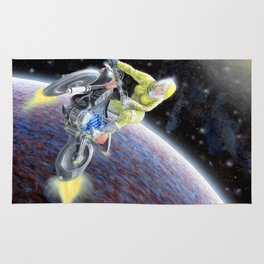 Space Motocross Rug