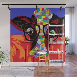 Spectacled Cow Wall Mural