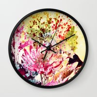 aelwen Wall Clocks featuring waterlily by clemm