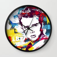 rebel Wall Clocks featuring Rebel by Paky Gagliano