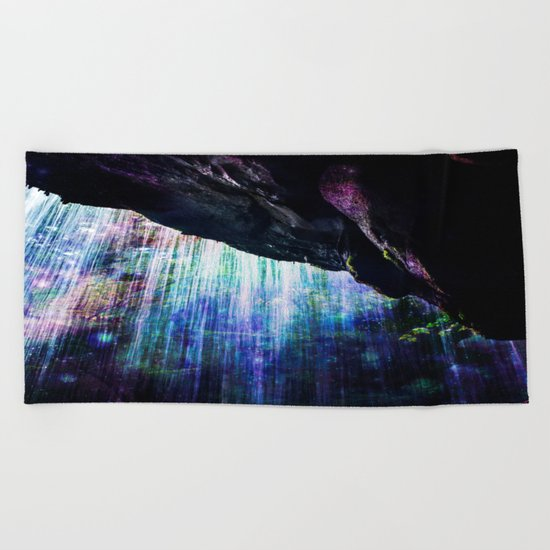 Enchanted Waterfall. Beach Towel