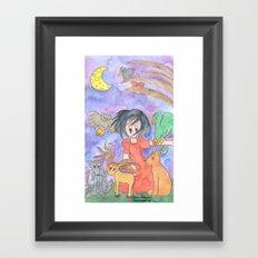 Overwhelmed Snow White Framed Art Print
