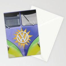 Vintage Volkswagen Van Microbus Splitty with Sun Stationery Cards