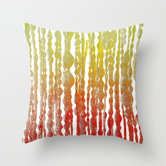 psychedelic stripes - red Throw Pillow