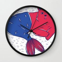 Mermaid Cat Wall Clock