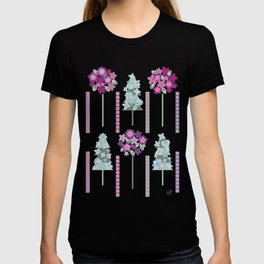 Geometric flowers T-shirt
