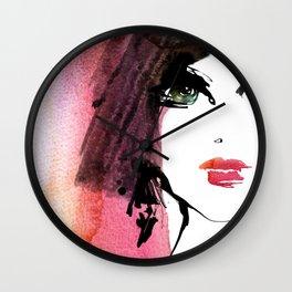 Green eye Wall Clock