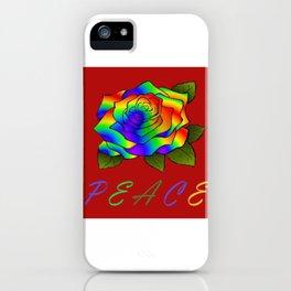 Peace Flower iPhone Case