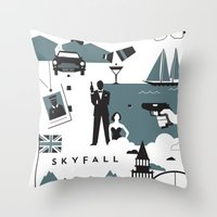 skyfall Throw Pillows featuring Skyfall by Brandon Riesgo
