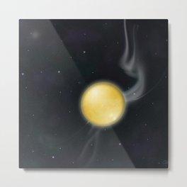 Golden Planet Metal Print