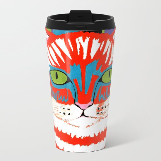 Bad Cattitude Metal Travel Mug