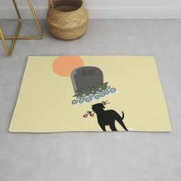 In Memory Of The Death Of A Loved One, Gift For Pet Owner, RIP Dog or Cat, Rest In Peace Rug