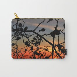 Rose hip in sunrise Carry-All Pouch
