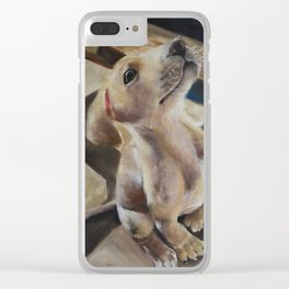 Puppy American Pit Bull Terrier Clear iPhone Case