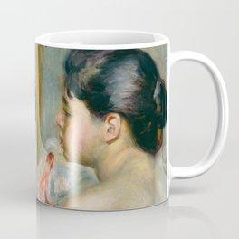 """Auguste Renoir (1841-1919) """"Dark-Haired Woman"""" Coffee Mug"""