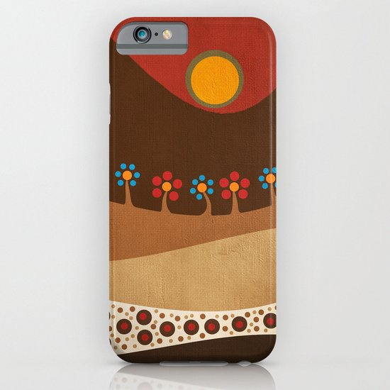 Circular landscape & flowers iPhone & iPod Case
