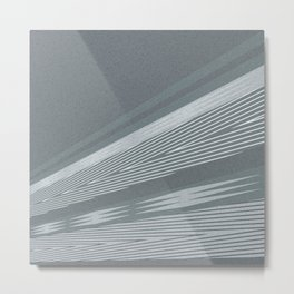 Abstract asymmetrical pattern in shades of gray . Metal Print