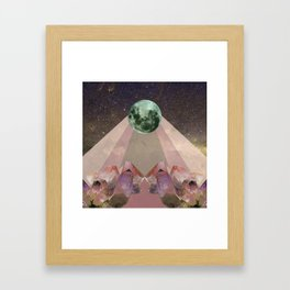 Full Moon Rising Framed Art Print