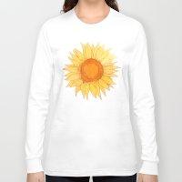 sunflowers Long Sleeve T-shirts featuring Sunflowers by Sara Eshak