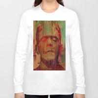 frankenstein Long Sleeve T-shirts featuring frankenstein by Joe Ganech