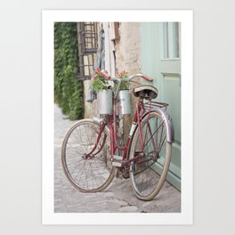 Red Bike Art Print