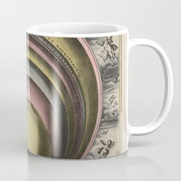 Keller's Harmonia Macrocosmica - The sizes of the celestial bodies 1661 Coffee Mug