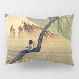 Katsushika Hokusai Boy Viewing Mount Fuji Pillow Sham
