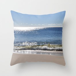 Beach just before sunset Throw Pillow