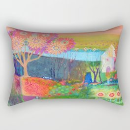 Feeling Peachy Rectangular Pillow