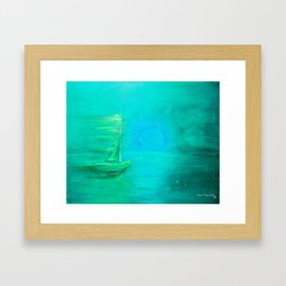 Aqua Sail Framed Art Print
