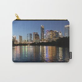 Austin, Texas skyline - city lights Carry-All Pouch