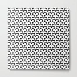 Black Triangles on White Metal Print