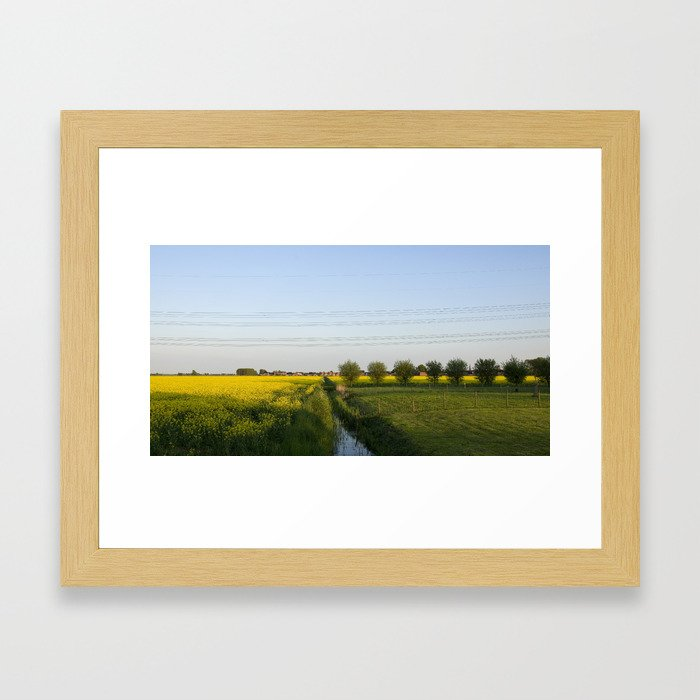 Colors in the field Framed Art Print