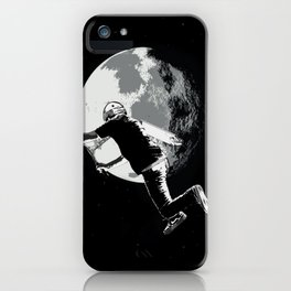 Tailing the Moon - Tail-whip Scooter Stunt iPhone Case