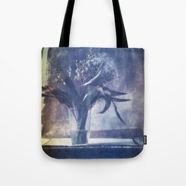 SILL LIFE WITH DEAD LILIES OF THE VALLEY . Film photography. Tote Bag