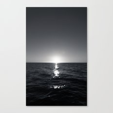 sunset ver.b&W Canvas Print