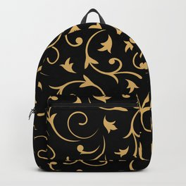 Baroque Design – Gold on Black Backpack