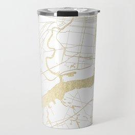 Philidelphia - White and Gold Travel Mug