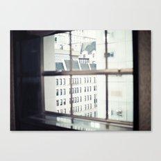 New York, NYC, windows on black and white Canvas Print