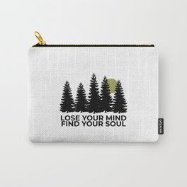 Womens Cute Workout Yoga Boho Hippie Namaste Yoga Gift for Her. Funny Vegan quote Carry-All Pouch